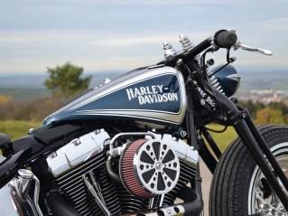 Der Cole-Foster-Tank ist ungebrochen beliebt für Oldschool-Harley-Customs. Um die elektronische Einspritzung unterzubekommen, musste er hier allerdings stark modifiziert werden