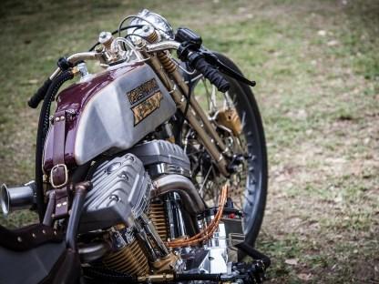 Zum Biker-Build-Off, den Matt mit seiner »Dixie Rose« bestritt, gehörte auch eine Tour. 1000 Meilen musste der Customizer auf dem Boardtracker mit den Slicks zurücklegen
