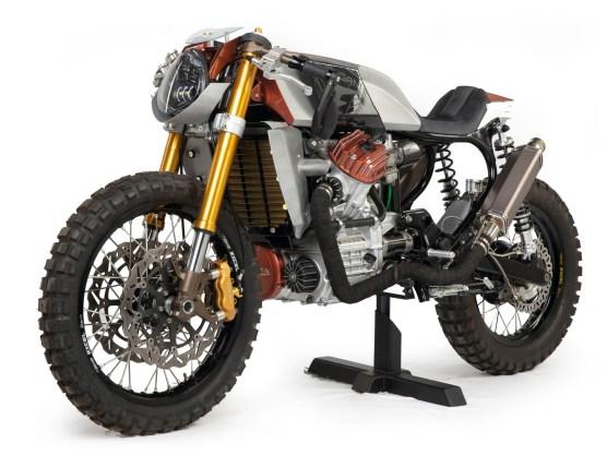 Aluminium und Carbon waren die erste Materialwahl, um dem sportlichen Look der Honda gerecht zu werden