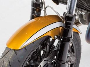 Besser is' das: PVM-Schmiederäder, die Upside-down-Gabel stammt von einer Honda CBR 900