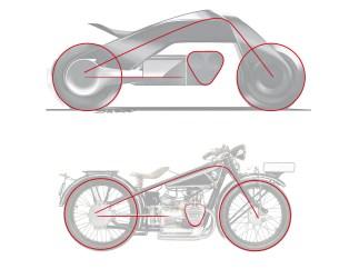 Die Formensprache des neuen »Flexframes« soll nicht nur bewusst das erste BMW Motorrad, die R32 von 1923, zitieren, sondern auch neu interpretieren