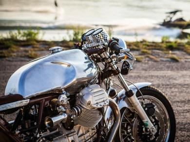 Eine Guzzi ist ein Charaktermotorrad, das eine starke Hand verlangt. Wer damit zurecht kommt, spurtet knüppelhart und mit grollendem Sound durch jede Kurven