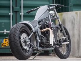 Jesse fährt seine Harley täglich und ohne Probleme, das Bike läuft seiner Optik entsprechend gradlinig und sauber – pure Harmonie im Nachbarland