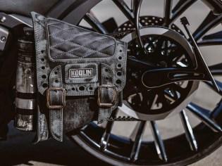 Praktisches Detail: Die Satteltasche kommt in eigenem Design