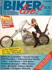 Das »Deutsche Zweirad- und NSU-Museum Neckarsulm« hat seit 1992 eine »Captain America« in seiner Ausstellung. Sie schaffte es in die erste Ausgabe unseres Magazins – das damals noch »BIKER live!« hieß – und auf das Cover