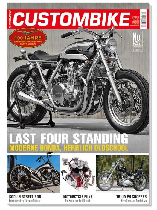 Die gute Honda war das Coverbike von CUSTOMBIKE 01-21. Die Ausgabe kann noch in unserem Online-Kiosk bestellt werden. Innerhalb Deutschlands liefern wir versandkostenfrei