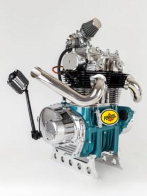 Dieser Motor war das erste Objekt einer mittlerweile größeren Serie. Die Stücke werden auch in Kunstgalerien ausgestellt