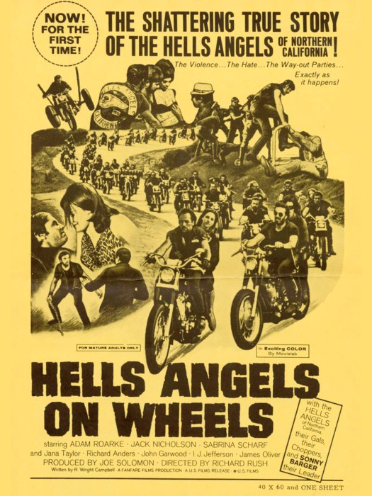 """Die Moral: Easy Rider sollte nicht wie viele andere Bikermovies, vom Schlage """"Hells Angles on Wheels"""" oder """"The Wild Angles"""", von motorradfahrenden, gewaltbereiten Schlägertypen handeln, die ihre Umwelt terrorisieren. Eher vom Ausbruch aus der Normalität. Was ironischerweise zur Gewalt ihnen gegenüber führte"""