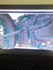 Der komplette Scan eines Motorrads ermöglicht anschließend die exakte Entwicklung von Teilen am computergenerierten 3D-Modell