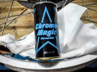 Chrome Magic vor allem im Geruch kräftig blieb sie in der WIrkung leider hinter den anderen Polituren zurück
