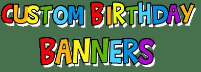Birthday Banners Customised Personalised Birthday Banner