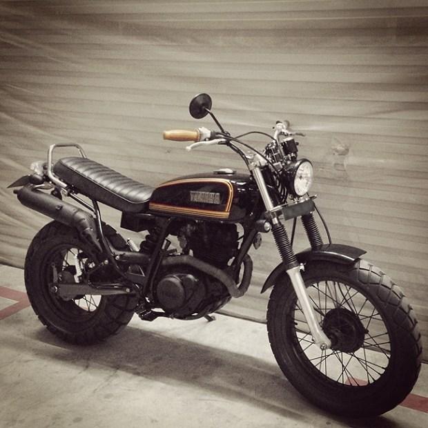 tw200 singapore, fat donut, custom bike, beach bike