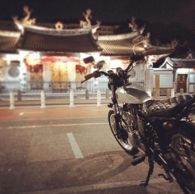 gn250, suzuki, singapore, bratstyle, custom motorcycle