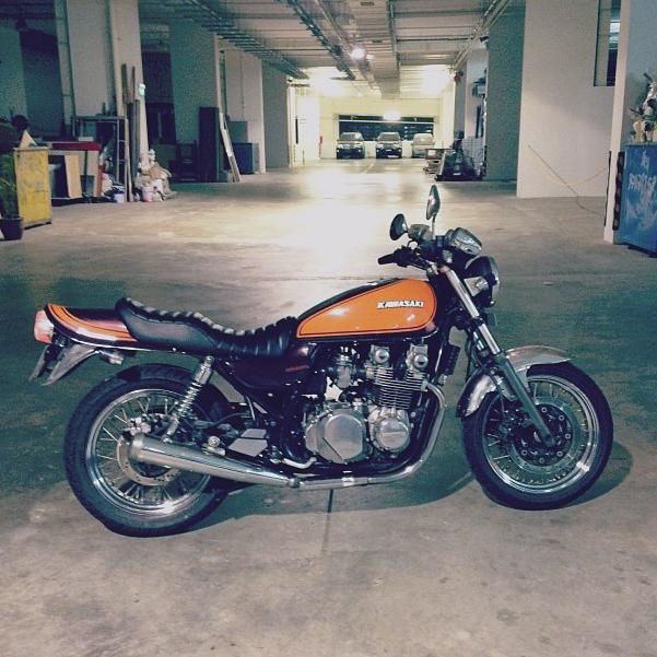 zephyr 750, classic motorcycle, kawasaki, singapore, custom motorcycle, z900, z1