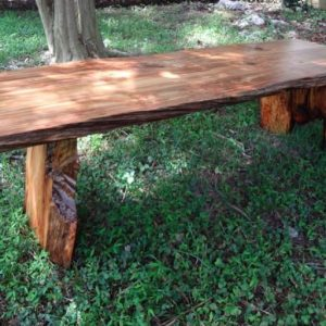 river-recovered Heart Pine coffee table Evan Wittels