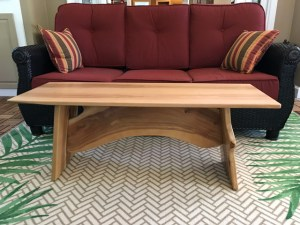 Apple wood coffee table Evan Wittels