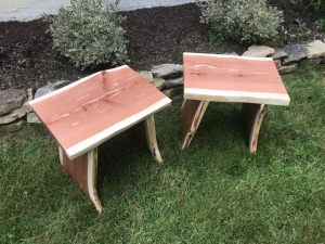 red cedar furniture bench stool table height