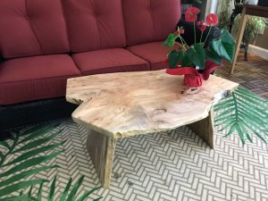Ambrosia maple wood coffee table