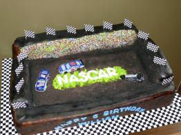NASCAR themed cake