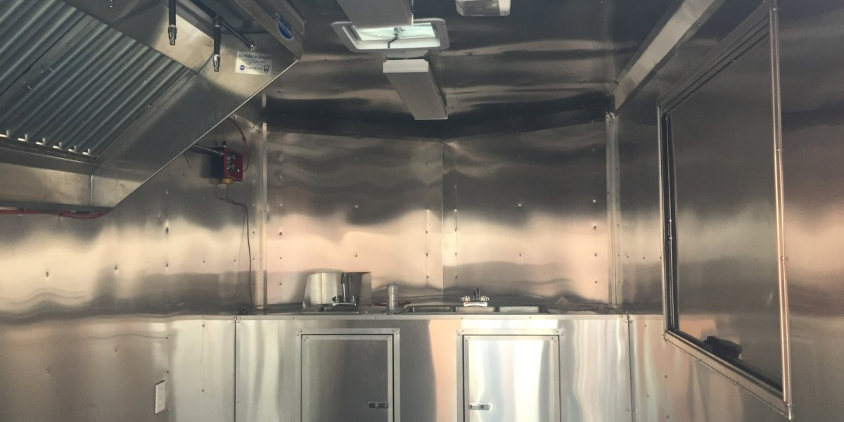 Inside of Custom Food Truck