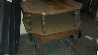 Vintage side table before pic