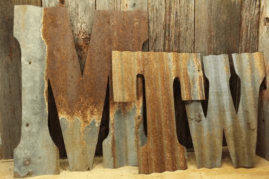 Corrugated Rustic Metal Letters Rustic Metal Letters