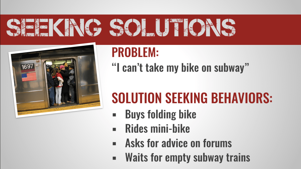 solution seeking behaviors