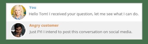 the social media angry customer