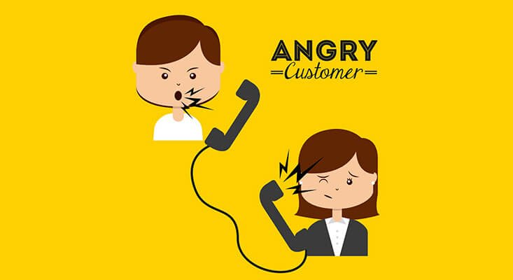 Dealing with angry customer