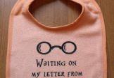Harry Potter Letter from Hogwarts custom bib