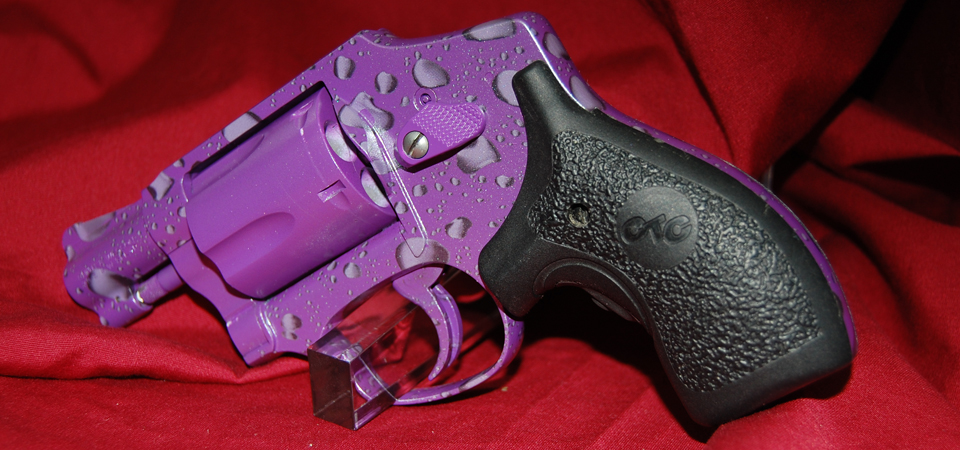 Smith & Wesson Revolver in DuraCoat Electric Lavender