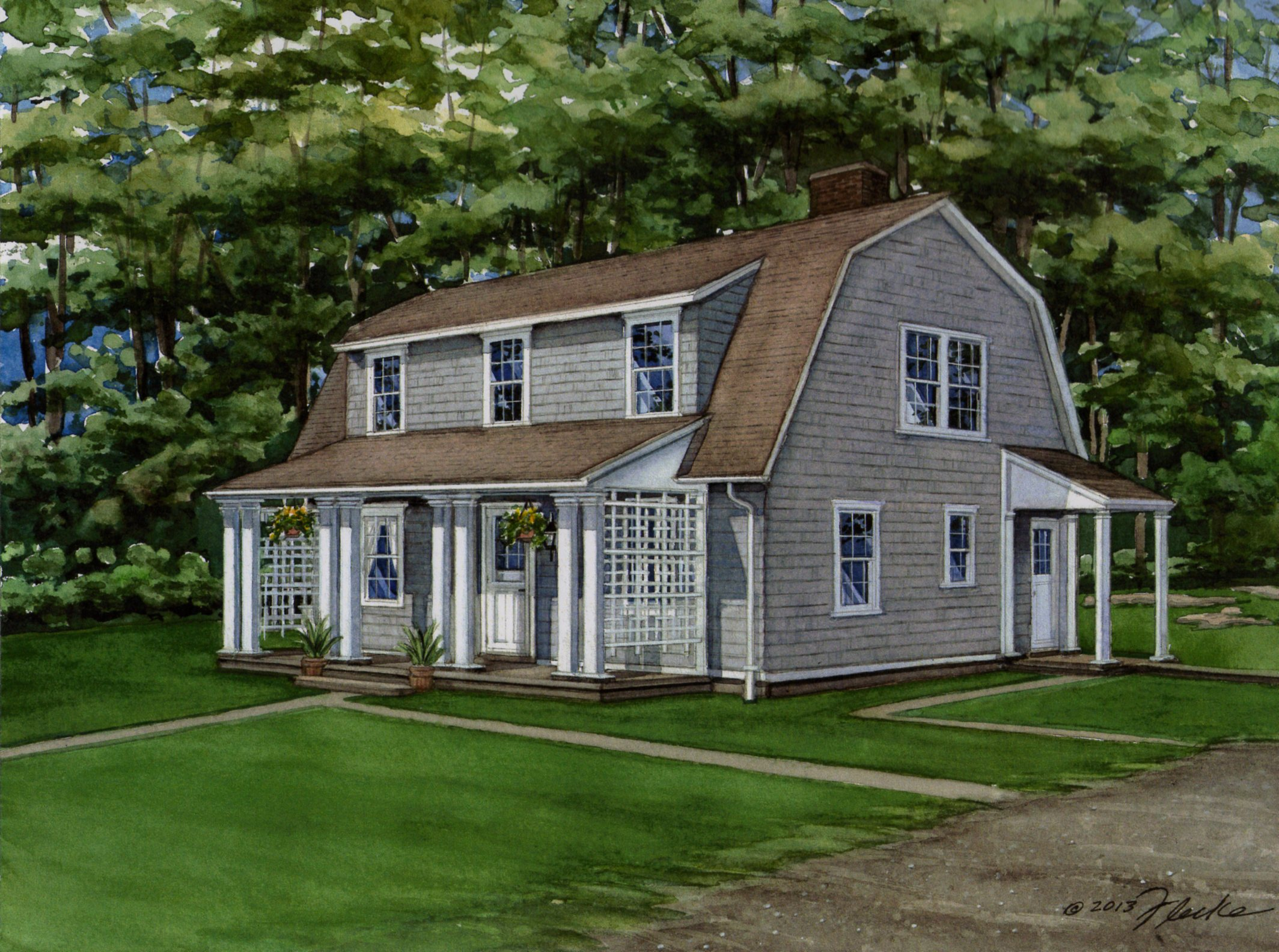 Cape cod house plans 1950s for Cape style house plans