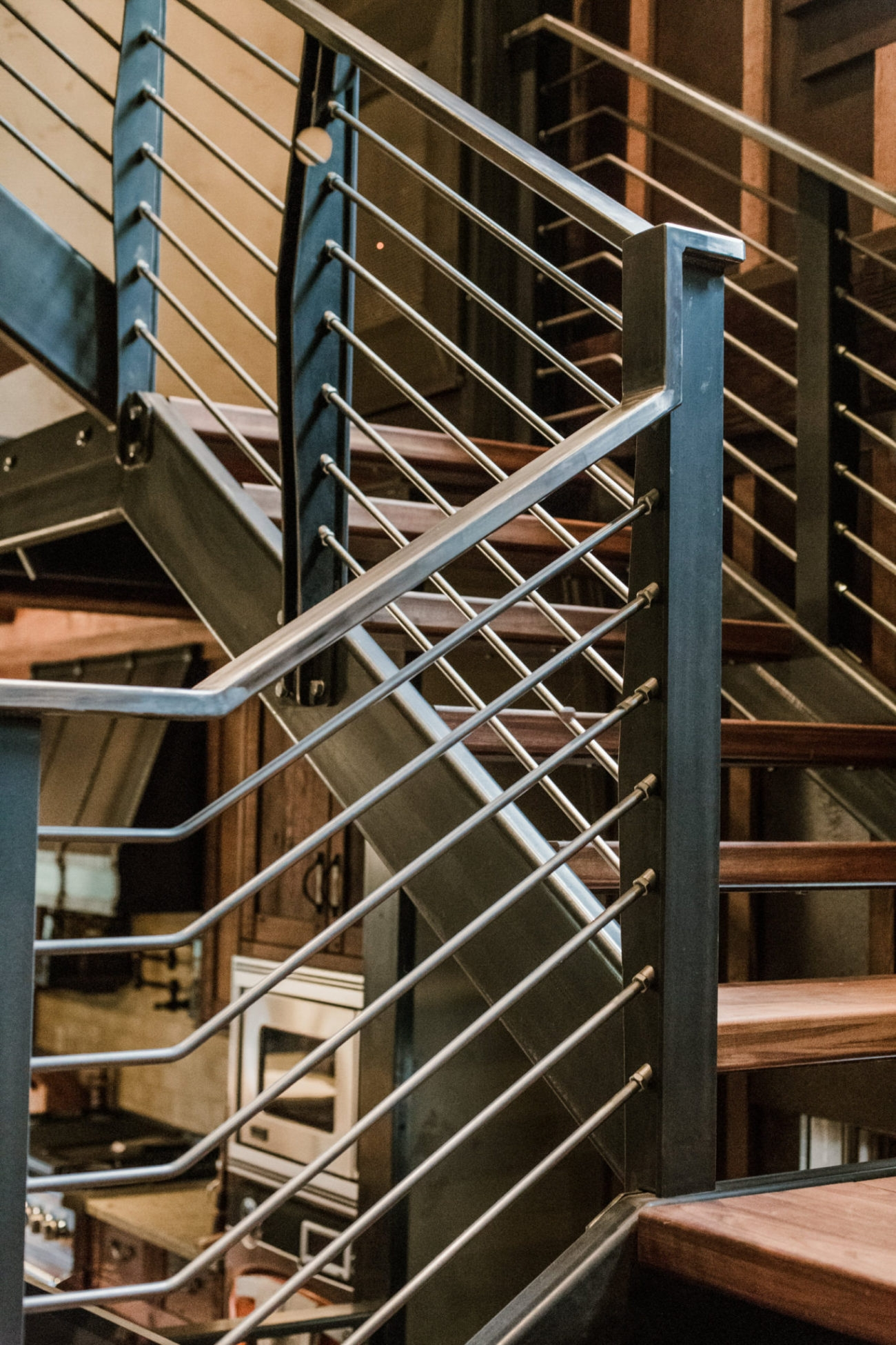 Stairs And Railing – Custom Ii Manufacturing   Stainless Steel Bannister Rails   Staircase Railing   Wood   Brushed Stainless   Railing Kits   Balcony