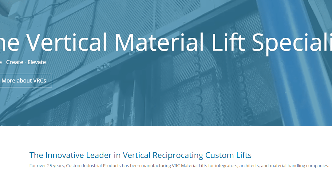 Custom Industrial Products Launches New User-Friendly Website