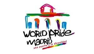 logo del World Pride Madrid 2017 con enlace al programa de fiestas.