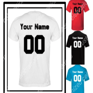personalised football shirt print
