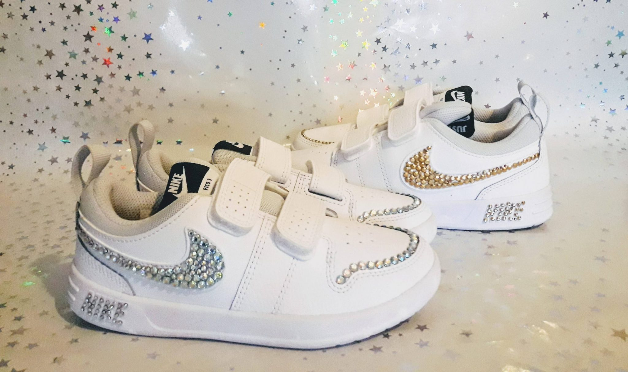 Nike trainers blinged up in choice of colour