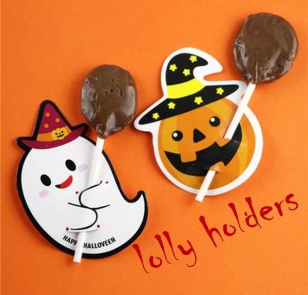 halloween lolly-pop holders 6pk