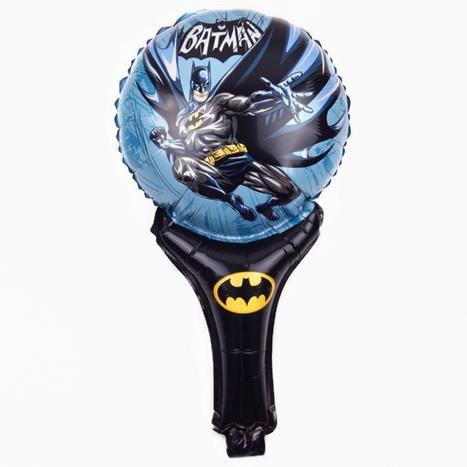 batman superhero handheld foil balloon