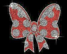 minnie mouse rhinestone transfer bow