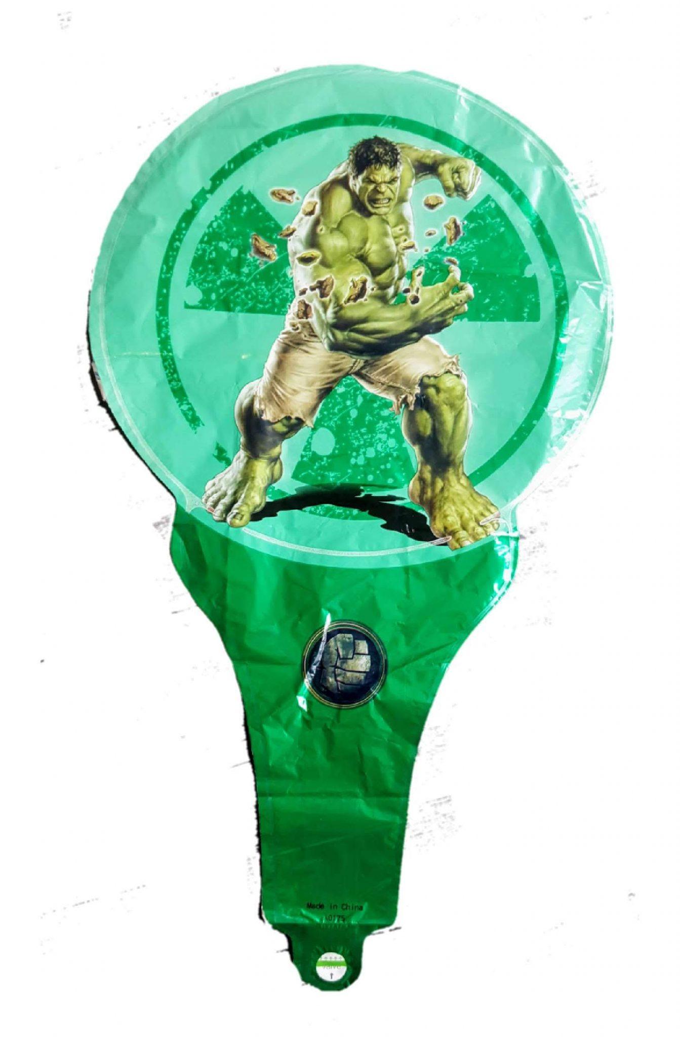 hulk superhero handheld foil balloon