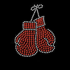 boxing gloves rhinestone transfer