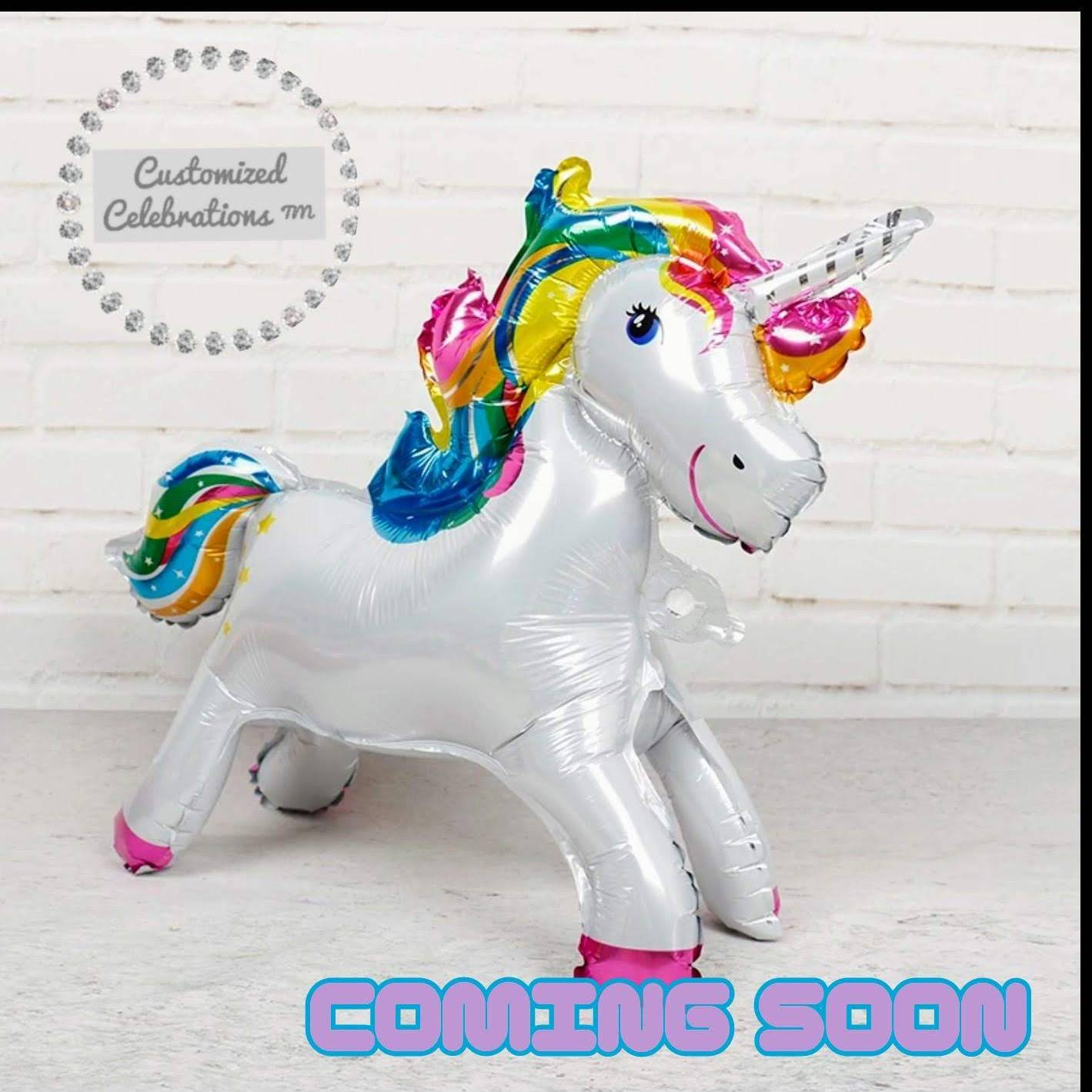 3d unicorn foil balloon