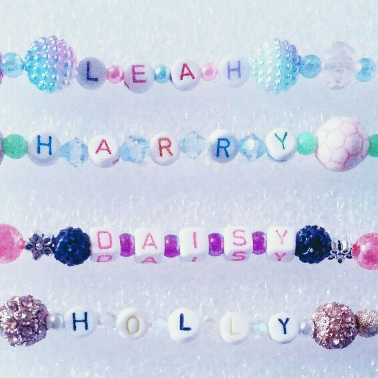 Personalised dummy chain clip soother teether reborn baby bling