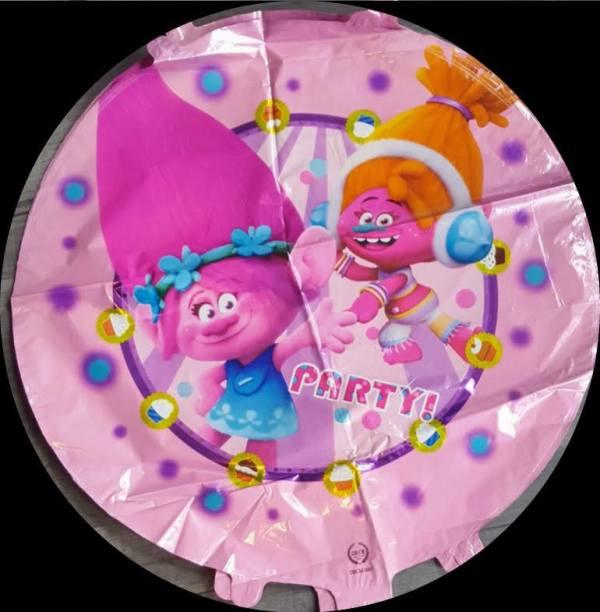 "trolls poppy round foil balloon 18"""