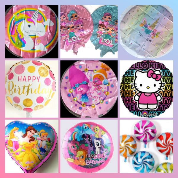 """Foil 18"""" character balloons"""