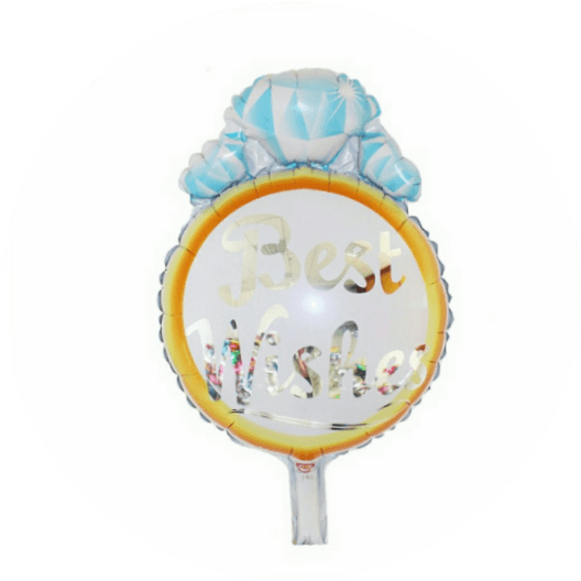 Best wishes engagement ring foil balloon