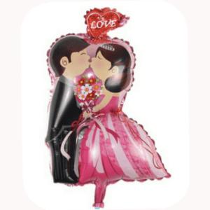 68 cm bride and groom foil balloon.