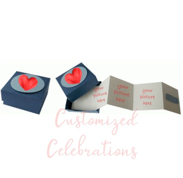 photo gift box accordion valentines