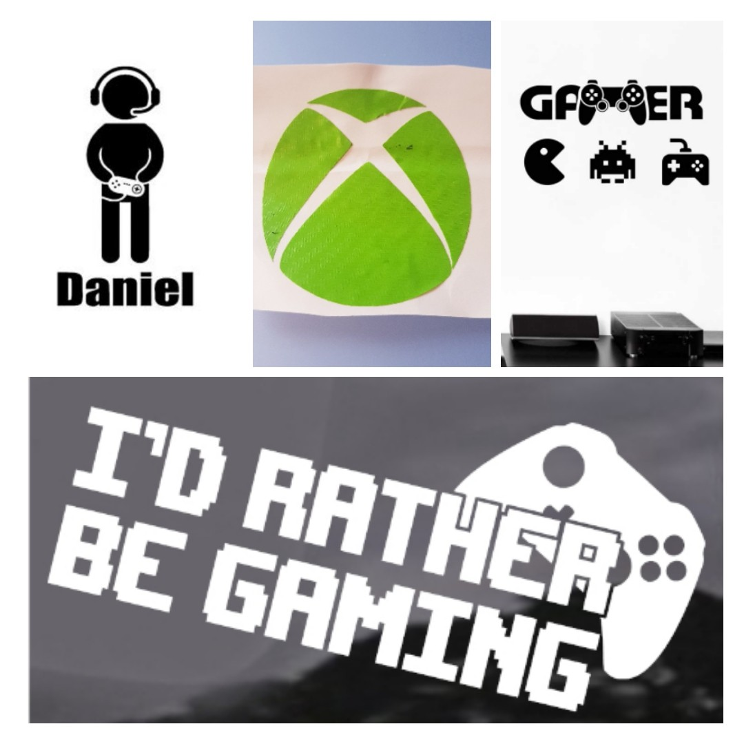 gaming HTV decals